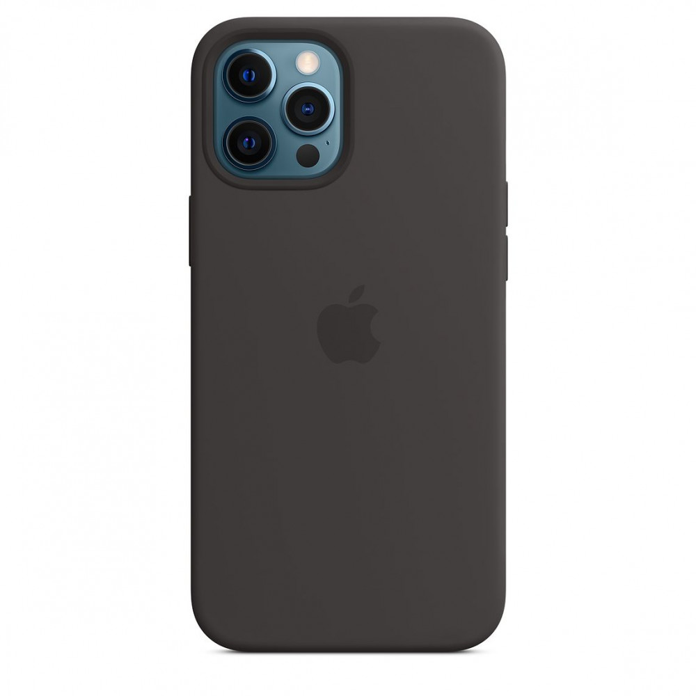 Apple iPhone 12 Pro Max Silicone Case with MagSafe Lux Copy - Black (MHLG3)