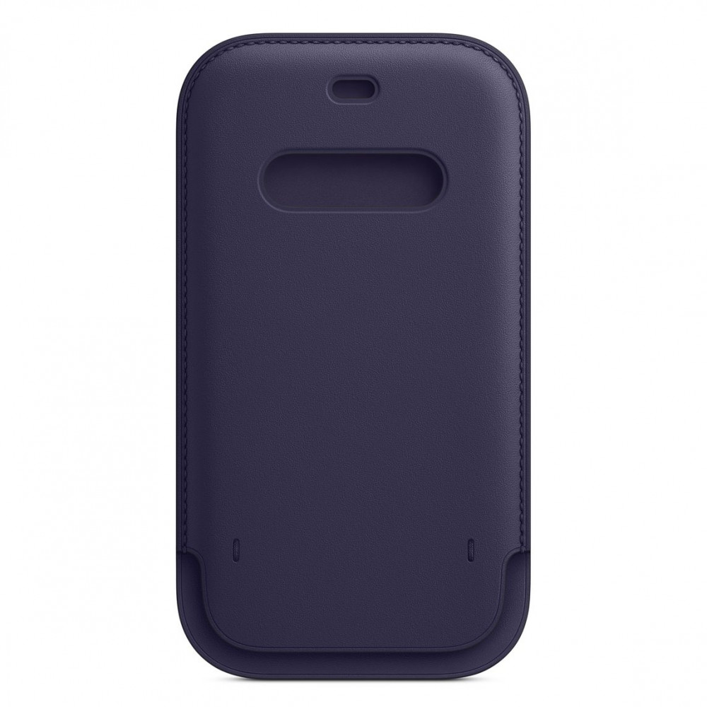 Apple iPhone 12   12 Pro Leather Sleeve with MagSafe - Deep Violet (MK0A3)