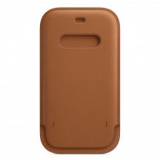 Apple iPhone 12 | 12 Pro Leather Sleeve with MagSafe - Saddle Brown (MHYC3)