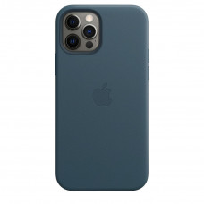 Apple iPhone 12 | 12 Pro Leather Case with MagSafe Lux Copy - Baltic Blue (MHKE3)