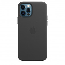 Apple iPhone 12 | 12 Pro Leather Case with MagSafe Lux Copy - Black (MHKG3)