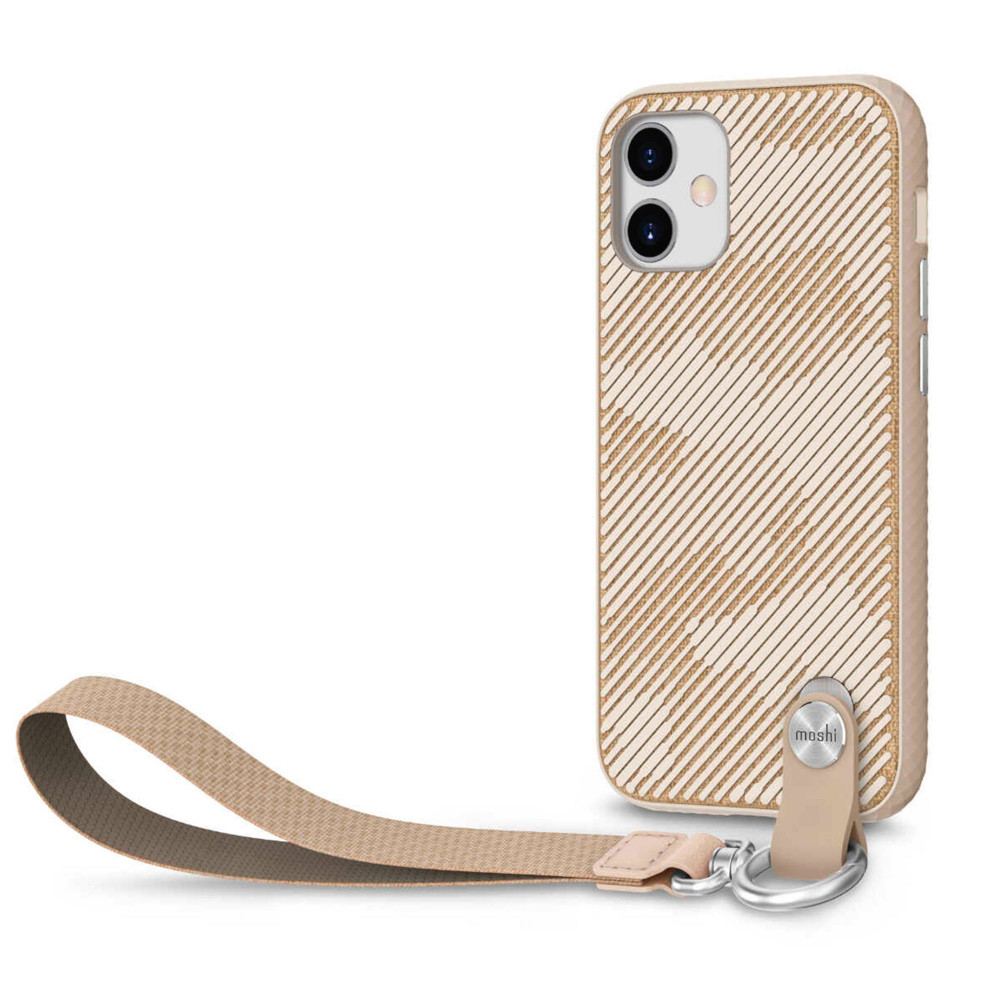 Moshi Altra Slim Case with Wrist Strap for iPhone 12   12 Pro - Sahara Beige (99MO117307)