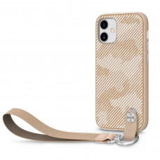 Moshi Altra Slim Case with Wrist Strap for iPhone 12/12 Pro - Sahara Beige (99MO117307)