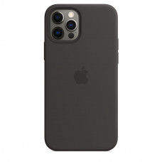Apple iPhone 12 | 12 Pro Silicone Case with MagSafe Lux Copy - Black (MHL73)