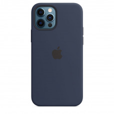 Apple iPhone 12 | 12 Pro Silicone Case with MagSafe Lux Copy - Deep Navy (MHL43)