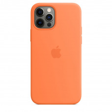 Apple iPhone 12 | 12 Pro Silicone Case with MagSafe Lux Copy - Kumquat (MHKY3)