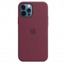 Apple iPhone 12 | 12 Pro Silicone Case with MagSafe Lux Copy - Plum (MHL23)