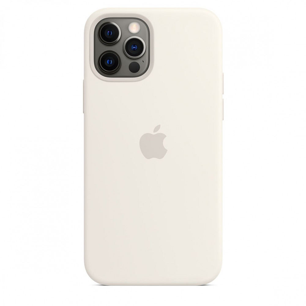 Apple iPhone 12   12 Pro Silicone Case with MagSafe - White (MHL53)