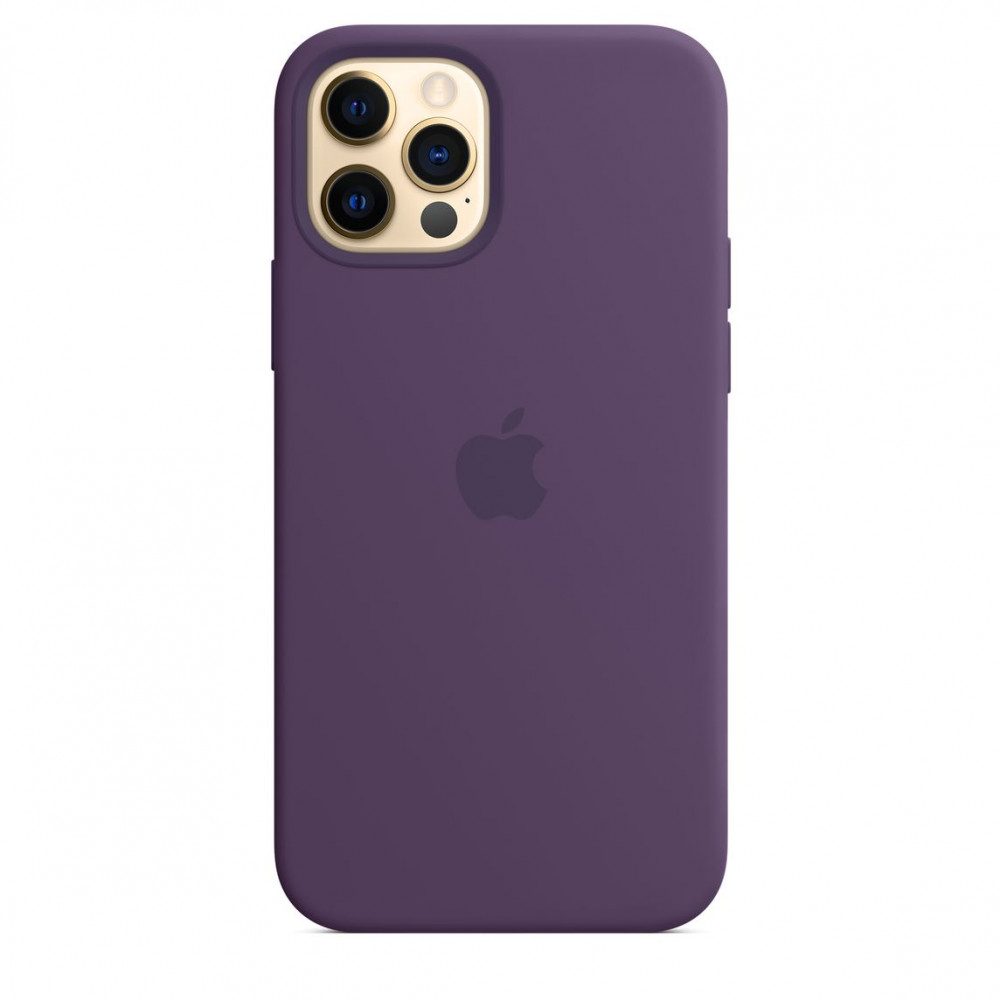 Apple iPhone 12   12 Pro Silicone Case with MagSafe Lux Copy - Amethyst (MK033)