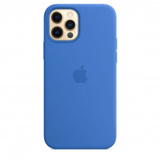 Apple iPhone 12 | 12 Pro Silicone Case with MagSafe Lux Copy - Capri Blue (MJYY3)