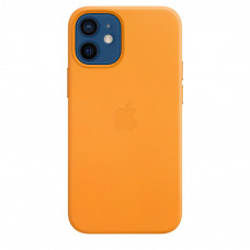 Apple iPhone 12 mini Leather Case with MagSafe Lux Copy - California Poppy (MHK63)
