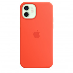 Apple iPhone 12 mini Silicone Case with MagSafe - Electric Orange (MKTN3)