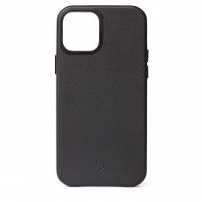 DECODED Leather Back Cover for iPhone 12 Pro - Black (D20IPO61BC2BK)