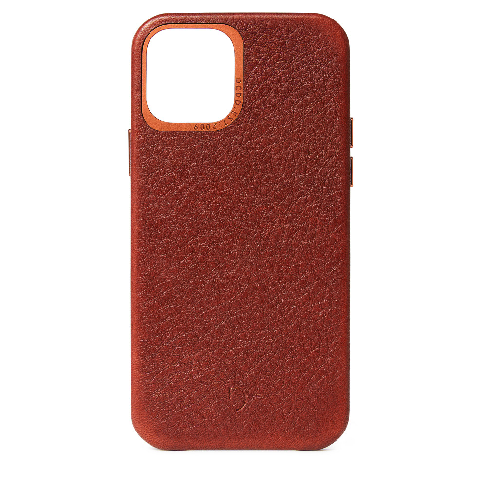 DECODED Leather Back Cover for iPhone 12 Pro - Brown (D20IPO61BC2CBN)