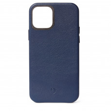 DECODED Leather Back Cover for iPhone 12 Pro - Navy (D20IPO61BC2NY)