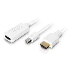 Адаптер Macally Mini DisplayPort to HDMI 4K with HDMI cable 180 cm - White (MD-HD6C-4K)