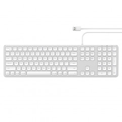 Satechi Aluminum USB Wired Keyboard Silver US (ST-AMWKS)