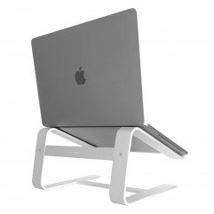 """MACALLY Aluminum Horizontal Laptop Stand for Laptops and MacBooks up to 17"""" (ASTAND)"""