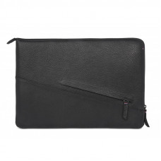 "DECODED Leather Sleeve with Zipper MacBook Pro 13"" Black"