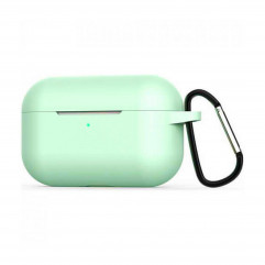 Blueo Liquid Silicone Case for Apple AirPods Pro with Carbine - Spearmint