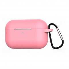 Blueo Liquid Silicone Case for Apple AirPods Pro with Carbine - Light Pink