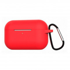 Blueo Liquid Silicone Case for Apple AirPods Pro with Carbine - Red
