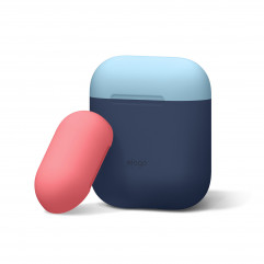 Elago Duo Case Pastel Blue / Pink / White for Airpods (EAPDO-PBL-PKWH)
