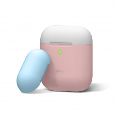 Elago Duo Case Pink / White / Pastel Blue for Airpods (EAPDO-PK-WHPBL)