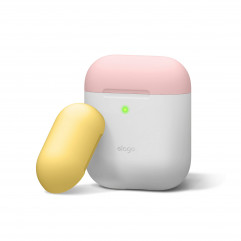 Elago Duo Case White / Pink / Yellow for Airpods (EAPDO-WH-PKYE)