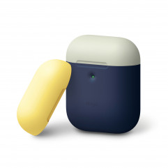 Elago A2 Duo Case Indigo / Classic White / Yellow for Airpods with Wireless Charging Case (EAP2DO-JIN-CWHYE)