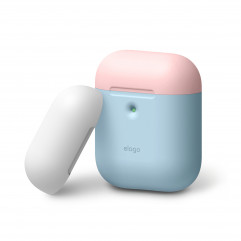 Elago A2 Duo Case Pastel Blue / Pink / White for Airpods with Wireless Charging Case (EAP2DO-PBL-PKWH)