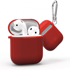 Чохол WIWU iGlove 360 ° Silicon Protect Case Vertical Stripe for Apple AirPods (Red)