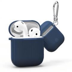 Чохол WIWU iGlove 360 ° Silicon Protect Case Vertical Stripe for Apple AirPods (Blue)