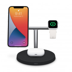 Belkin BOOST↑CHARGE PRO 3-in-1 Wireless Charger with MagSafe - Black (HPG02)