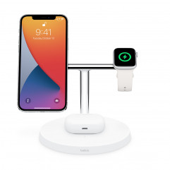Belkin BOOST↑CHARGE PRO 3-in-1 Wireless Charger with MagSafe - White (HPGA2)