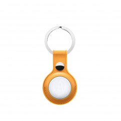 Apple AirTag Leather Key Ring Yellow Lux Copy