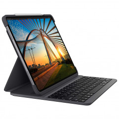 Logitech SLIM FOLIO PRO backlit keyboard case with Bluetooth for iPad Pro 12.9-inch (3rd and 4th gen) - Graphite (920-009703)