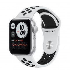 Apple Watch SE Nike GPS 40mm Silver Aluminum Case with Pure Platinum/Black Nike Sport Band (MYYD2)