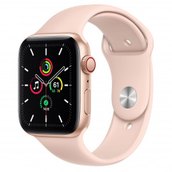 Apple Watch SE GPS + Cellular 44mm Gold Aluminum Case with Pink Sand Sport Band (MYEP2, MYEX2)