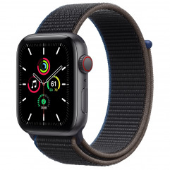 Apple Watch SE GPS + Cellular 44mm Space Gray Aluminum Case with Charcoal Sport Loop (MYEU2, MYF12)