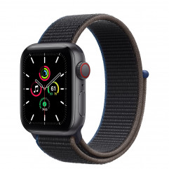 Apple Watch SE GPS + Cellular 40mm Space Gray Aluminum Case with Charcoal Sport Loop (MYEE2, MYEL2)
