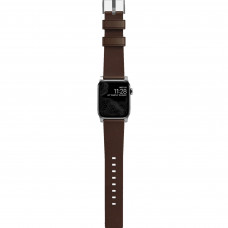Nomad Modern Strap Silver/Brown for Apple Watch 42/44mm (NM1A4RSM00)