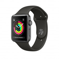 Apple Watch Series 3 (GPS) 42mm Space Gray Aluminum Case with Gray Sport Band (MR362)