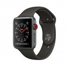 Apple Watch Series 3 (GPS + Cellular) 42mm Space Gray Aluminum Case with Gray Sport Band (MR2X2, MR302)