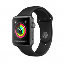 Apple Watch Series 3 (GPS) 42mm Space Gray Aluminum Case with Black Sport Band (MQL12, MTF32)