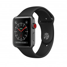 Apple Watch Series 3 (GPS + Cellular) 42mm Space Gray Aluminum Case with Black Sport Band (MQK22, MTGT2, MQKN2)