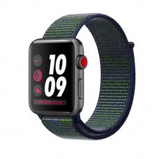 Apple Watch Series 3 Nike+ (GPS + Cellular) 42mm Space Gray Aluminum Case with Midnight Fog Nike Sport Loop (MQLH2, MQMK2)