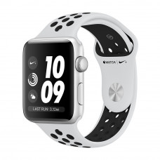 Apple Watch Series 3 Nike+ (GPS) 42mm Silver Aluminum Case with Pure Platinum/Black Nike Sport Band (MQL32)
