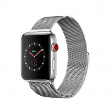 Apple Watch Series 3 (GPS + Cellular) 38mm Stainless Steel Case with Milanese Loop (MR1F2)