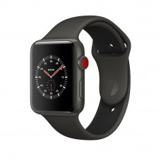 Apple Watch Edition Series 3 (GPS + Cellular) 42mm Gray Ceramic Case with Gray/Black Sport Band (MQKE2)